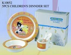 儿童密胺仿瓷餐具 五件套