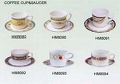 仿瓷咖啡杯碟
