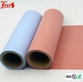 High temperature silicone rubber coated colored fireproof fiberglass cloth  2
