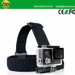 Action Camera Gopro Accessories Headband Headstrap Professiona Mount Tripod Helm