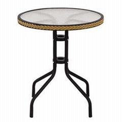 Polyrattan Round Dining Table