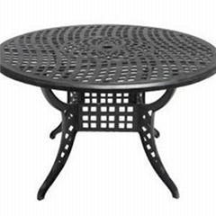 Cast Aluminum Round Dining Table