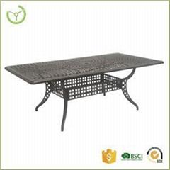 Cast Aluminum Rectagular Dining Table