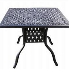 Cast Aluminum Square Dining Table