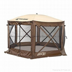 Clam Shelter Canopy Tent Bug Net Travel House Hiking UV Rain Brown