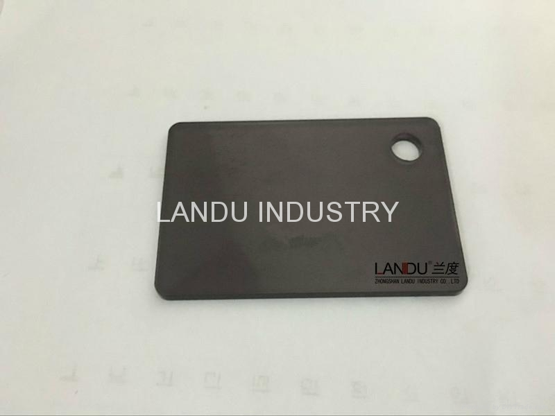 LANDU Transparent grey color acrylic sheets landu color number 834 1