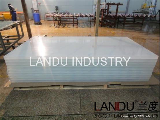 LANDU Transparent grey color acrylic sheets landu color number 834 5