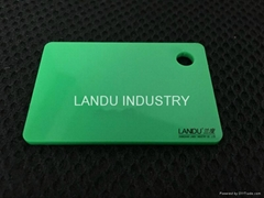 LANDU Kiwi green color acrylic sheets landu color number 617