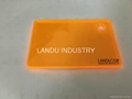 LANDU Transparent orange color acrylic