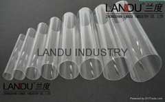 LANDU High quality transparent different size acrylic round tubes acrylic round