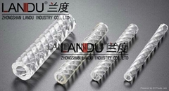LANDU high quality acrylic spraid twisted thread tubes