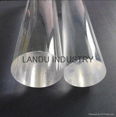 High quality different size transparent acrylic round rods acrylic round bars