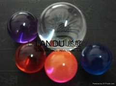 High quality solid pink color acrylic round balls