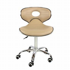 Low Back Seat Swivel PU Leather Adjustable Pedicure Chair
