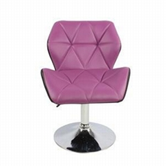 High Back Seat Swivel PU Leather Adjustable Barber Chair
