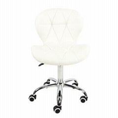 High Back Seat Swivel PU Leather Adjustable Salon Chair