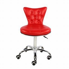 PU Leather Adjustable Living Room Chair With Wheels
