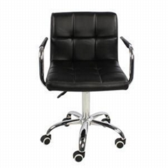 PU Leather Adjustable Office Chair With Armrest