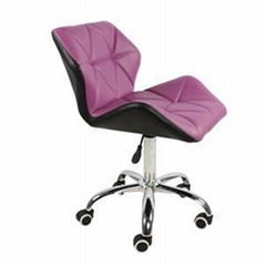 PU Leather Adjustable Office Chair With Wheels