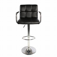 Swivel PU Leather Adjustable Office Chair With Armrest