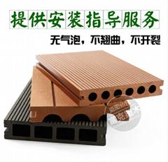 生态防腐户外木塑地板复合材料板材阳台室外WPC栗色塑木地板