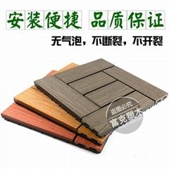 厂家直销300x300浴室阳台户外地板庭院花园DIY塑木地板