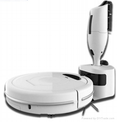 smart sweeping robot with hand-held vacuum cleaner