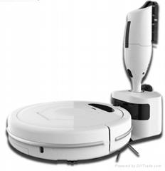 smart sweeping robot with hand-held vacuum cleaner