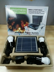 mini home lighting system with usb 3w solar led light kit for africa