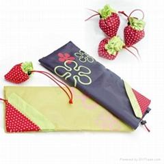 水果草莓袋 草莓折叠购物袋 环保袋 广告促销草莓袋