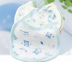 Baby Bib Cotton Pinafore 3 Layer Cotton Burp Cloth
