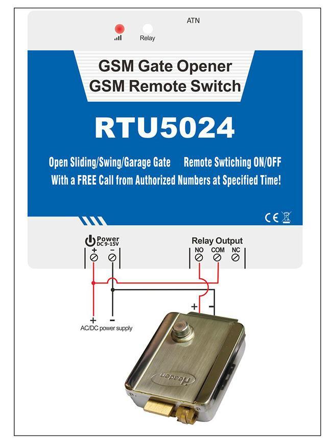 GSM 3G Gate Opener RTU5024 2
