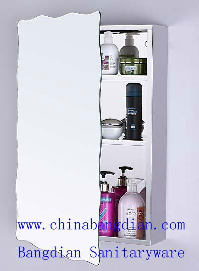 Customized 304 stainless steel bathroom mirror cabinet model 6006 2