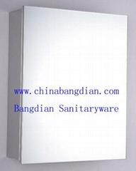 Stainless Steel Bathroom Mirror Cabinet with Toughen Glass Door(8003B)