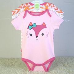 baby bodysuits 3 piece set 100% cotton