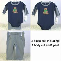 新生儿外貿套裝長袖哈衣褲子兩件套