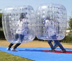 Latest crazy inflatable games inflatable body bumper ball