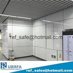 Enameled Subway Station Cladding Panel REF11