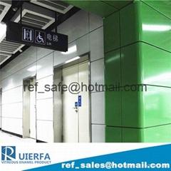 Vitreous Enamel Panel for Street furniture REF72