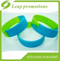 1 inch wristband silicone bracelet glow in the dark wristband