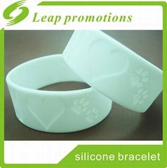 custom OEM 1 inch silicone wristband custom silicone bracelet