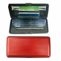 RFID Blocking Aluminum Long Card Wallet