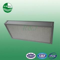 Deep-pleat air purifier hepa filter air filter material:glassfiber