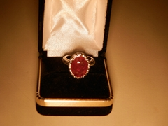 6.7克拉紅寶石戒指
