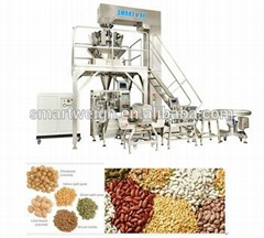 2016 SW-M10 weigher for beans,rice,white sugar vertical automatic packing