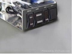 Twin-Len Illuminated Lighted LED Waterproof Sealed Auto Automotive Rocker Switch