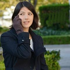 熱銷可愛款蝴蝶結設計女孩羊毛手套