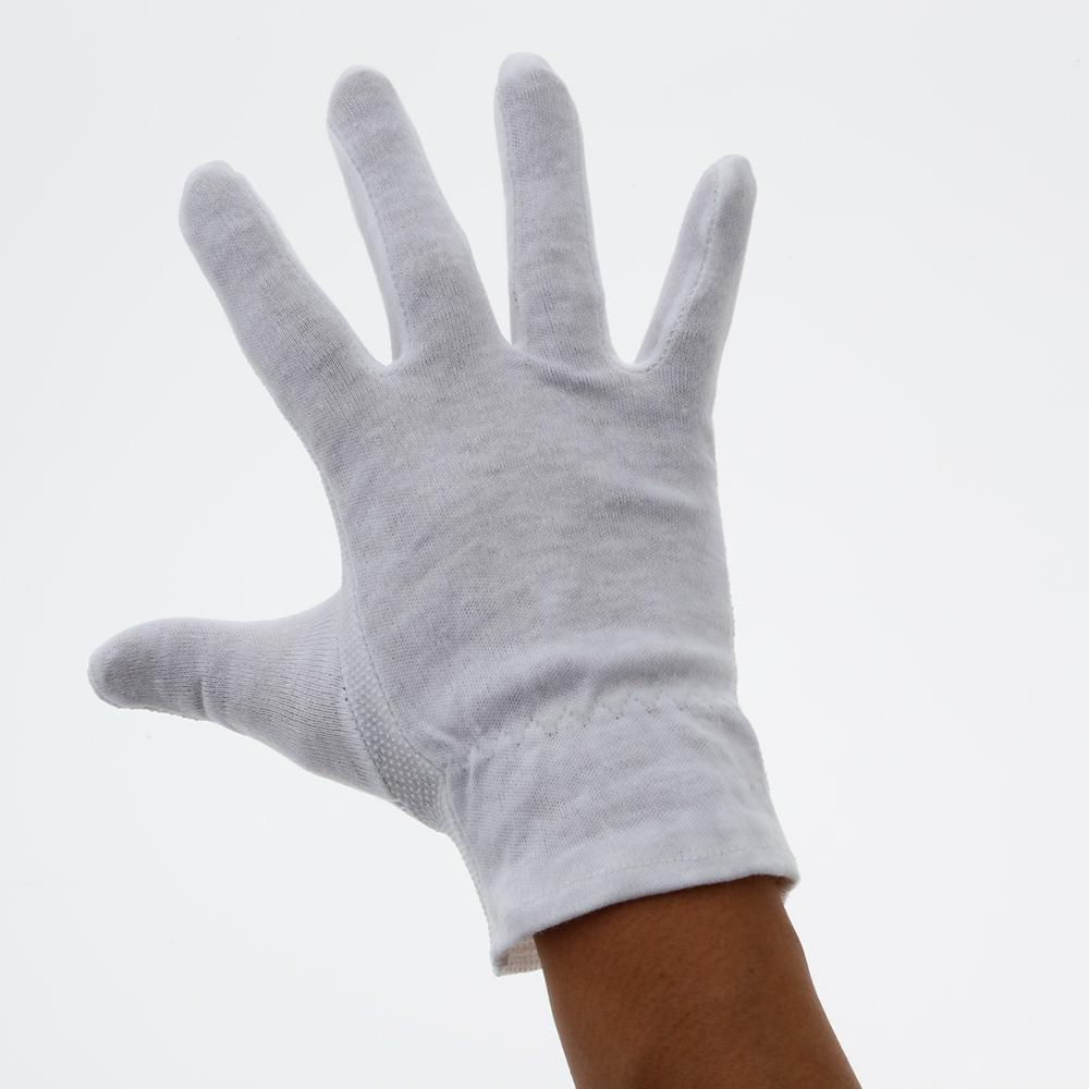 Cotton PVC Palm Non-Slip Marching Band Gloves 3