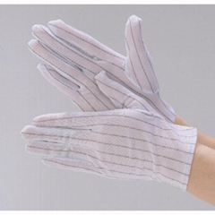 Lint Free Clean Room White Esd Antistatic Gloves