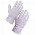 Carbon Esd Cleanroom Palm PVC Dotted Non-Slip Gloves 3